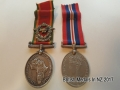 Original World War II 1939-45 War Medal & Africa Service Medal +SAAF Badge